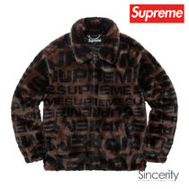 SUPREME FAUX FUR REPEATER BOMBER / BROWN / SMALL
