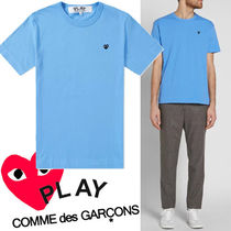 ● COMME des GARCONS PLAY ●ワンポイント 黒ミニハート ブルー