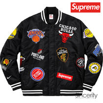SUPREME NIKE NBA TEAMS WARM-UP JACKET / BLACK / MEDIUM