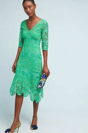 Anthropologie☆Angelica Lace Midi Dress
