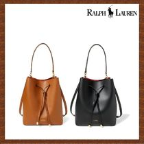 SALE★RALPH LAUREN★2色♪Leather Debby Drawstring Bag