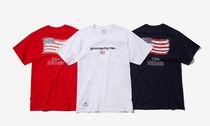 GROOVE RHYME(グルーヴライム) Tシャツ・カットソー ★GROOVE RHYME★2018 USA FLAG RUBBER PRINT T-SHIRTS☆大人気
