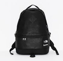 SUPREME The North Face Leather Day Pack BLACK