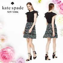 Kate Spade ケイトスペード Greenhouse Lace Inset 花柄スカート