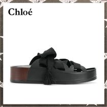 Chloe / LACE UP SLIDE SANDALS ブラック【関税・送料込】