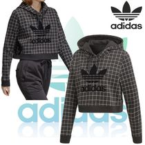 18SS adidas★CLRDO HOODED SWEATER ショート丈フードパーカー