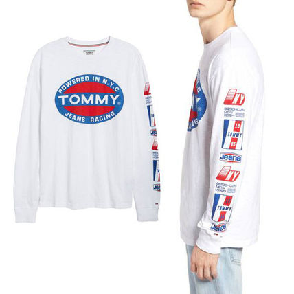 NEW 2018 Tommy Jeans Racing 新作 袖ロゴ ロンT