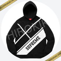【18SS】Supreme Diagonal Hooded Sweatshirt Box Logo Black 黒