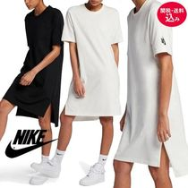 【Nike/ナイキ】 ロゴ入り  Essentials Tシャツワンピ 2color
