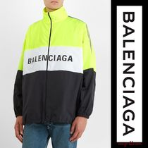 【即納OK】Balenciaga ジャケットHigh-neck logo-print jacket