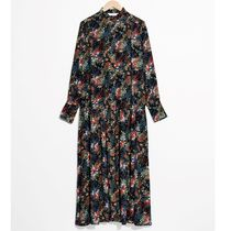 """& Other Stories""Oversized Printed Maxi Dress Black"