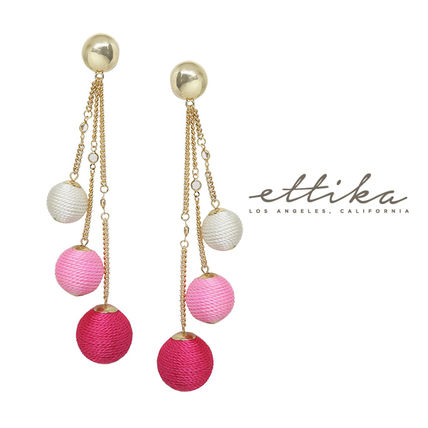 Let it Linger Earrings in Pink and Gold ピアス