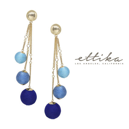 Let it Linger Earrings in Blue and Gold ピアス