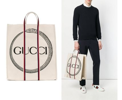 18SS GUCCI(グッチ)Gucci Ouroboros キャンバストートバッグ
