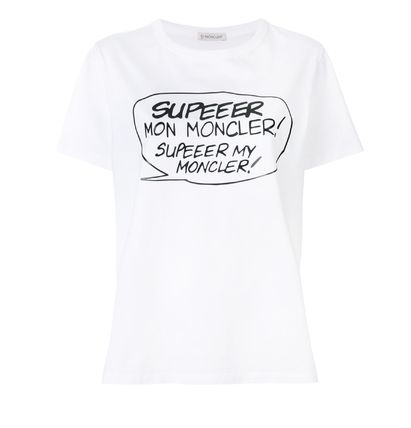 MONCLER Tシャツ・カットソー 【関税込】新作◆MONCLER◆コミック SUPEEER ホワイト Tシャツ(2)