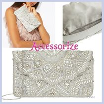 Accessorize☆Mollie☆スカロップ形ビーズ装飾クラッチバッグ