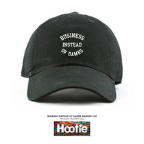 BUSINESS INSTEAD OF GAME BASEBALL CAP HIPHOP 刺繍 free ハフ