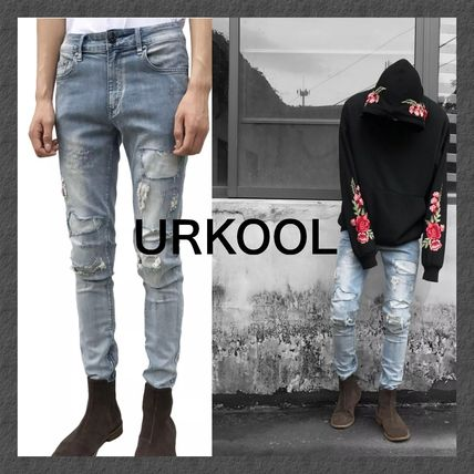 【URKOOL】★SALE★REPAIRED JEANS - BLUE