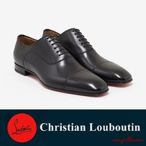【国内発送】ルブタン 革靴 Greggo Flat Black Leather Oxford