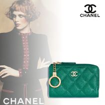 18SS☆CHANEL☆Classic key holder/Green