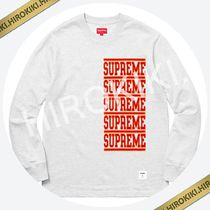 【18SS】Supreme Stacked L/S Top ロンT ロングスリーブ 長袖 灰