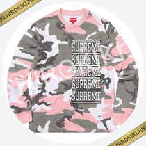 【18SS】Supreme Stacked L/S Top ロンT ロングスリーブ 長袖 桃