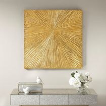 Madison Park Signature 76x76cm 金銀箔ウオールアート Sunburst