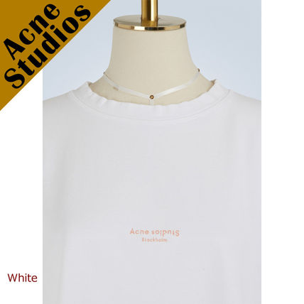 Acne Tシャツ・カットソー Acne*Cylea ロゴ付 ボクシーフィット クロップドTシャツ(2)
