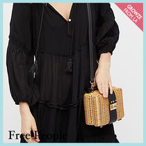 【Free People】ミニかごバッグ★ Wicker Park Picnic Basket