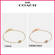 新作18SS☆COACH*Mini 18k Gold Plated Tea Rose Bracelet