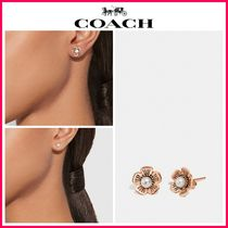 新作18SS☆COACH*Freshwater Pearl Tea Rose Earrings