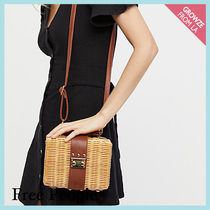【Free People】ミニかごバッグ☆ Wicker Park Picnic Basket