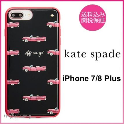 kate spade◆iPhone 7/8 Plus◆可愛いビンテージカー◆hot rod