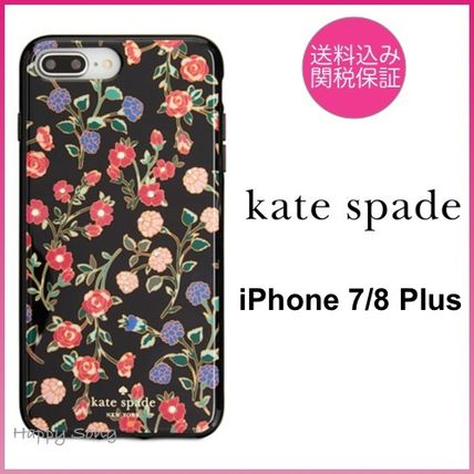 kate spade◆iPhone 7/8 Plus ケース◆可愛い花柄◆mini bloom