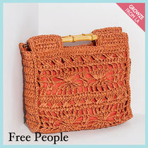 【Free People】ストロークラッチ☆ Dreamland Straw Clutch