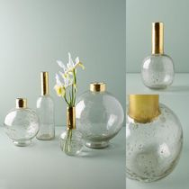 関税送料込♪【Anthropologie】Gilded Vase☆Small Bottleneck