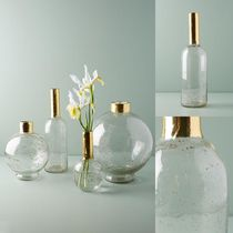 関税送料込♪【Anthropologie】Gilded Vase☆Medium Bottleneck