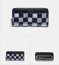 SALE☆COACH☆ACCORDION WALLET WITH GRAPHIC CHECKER PRINT
