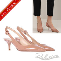 ★18SS★【Gianvito Rossi】Anna 55 パテント パンプス/Nude