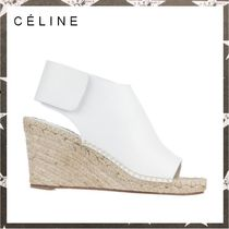 CELINE ESPADRILLES WEDGE SANDALS ホワイト 【関税・送料込】