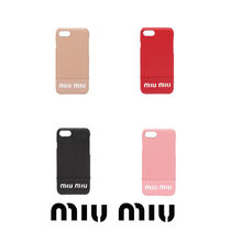 【MiuMiu】LEATHER COVER FOR IPHONE 6S AND 7