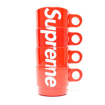 【Supreme】Stacking Cups (Set of 4) Red【即発送】