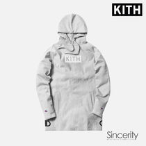 KITH CHAMPION EXTENDED HOODIE / HEATHER GREY / MEDIUM