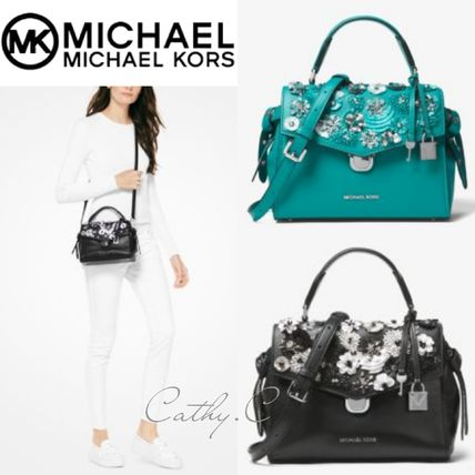 Michael Kors*新作*レザー*花*スタッズ/Bristol Floral Sequined