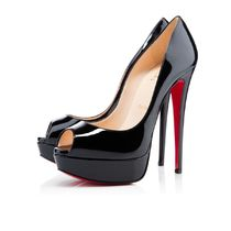 SS18 Louboutin ルブタン Lady Peep 150mm Patent Black