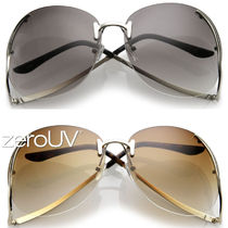 全4色*zeroUV*OVERSIZE RIMLESS LOW TEMPLE GRADIENT LENS SUN