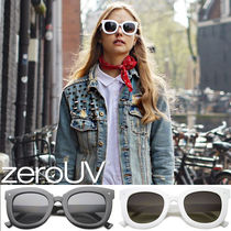 全5色*zeroUV*OVERSIZE BOLD HORNED RIM CAT EYE SUNGLASSES