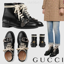 ★GUCCI★[Queercore]タイガーヘッドバックル付きブローグブーツ