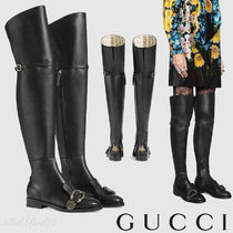 ★GUCCI★[Queercore]タイガーヘッドバックル付きニーハイブーツ