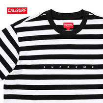 WEEK4★SS18 Supreme(シュプリーム)BAR STRIPE TEE-XL/black